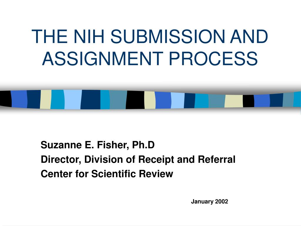 the nih submission and assignment process l.