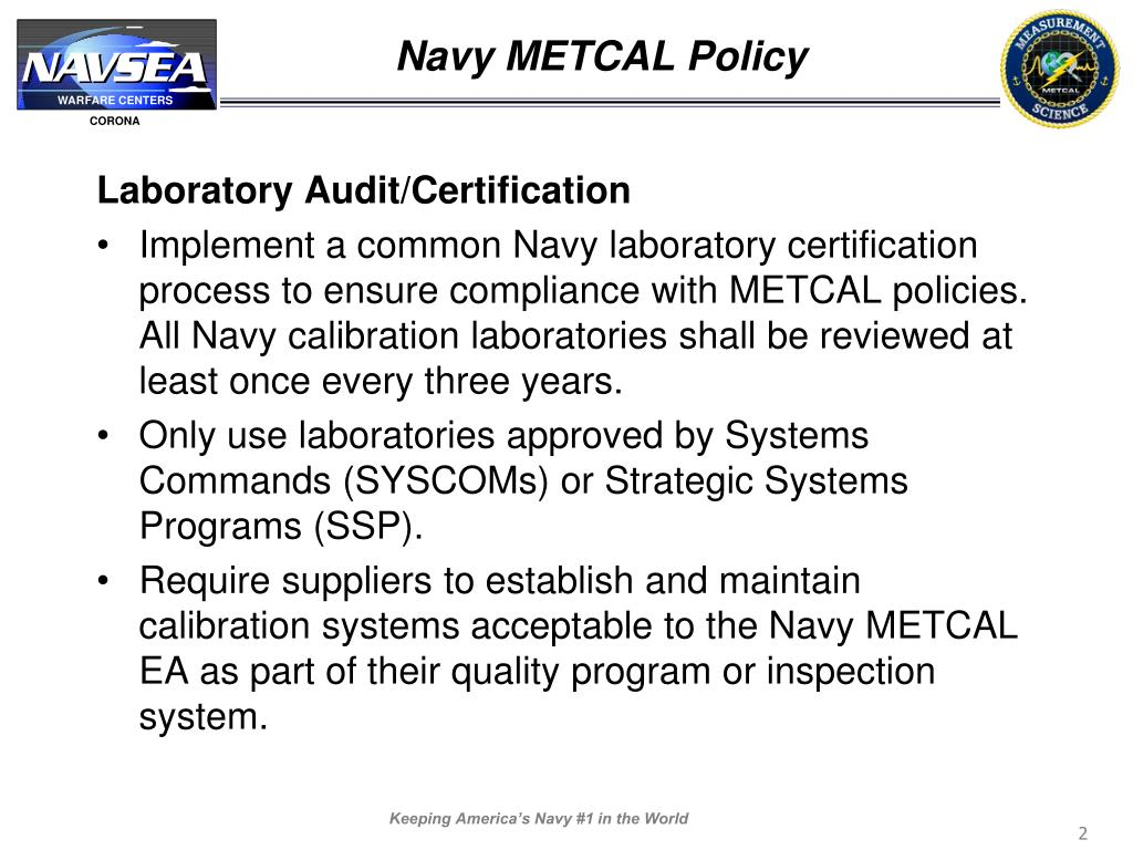 Navy METCAL Policy