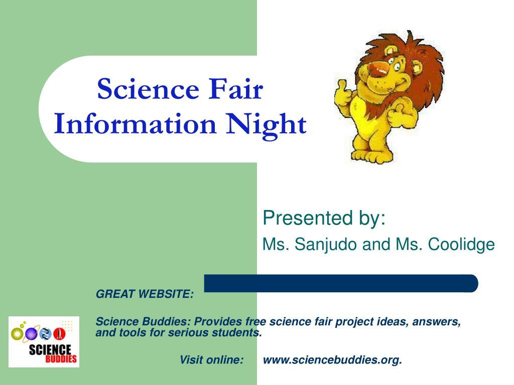 science fair information night l.