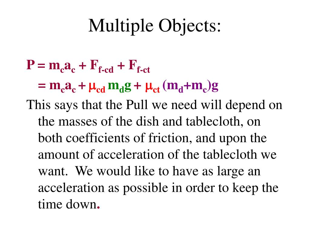 Multiple Objects: