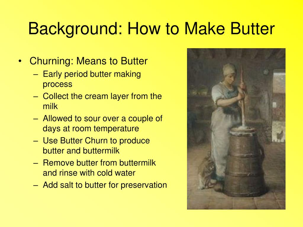 Background: How to Make Butter