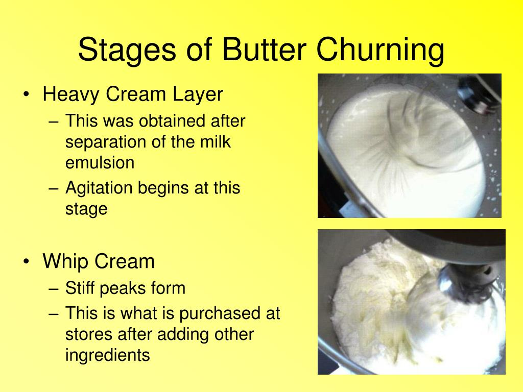 Stages of Butter Churning