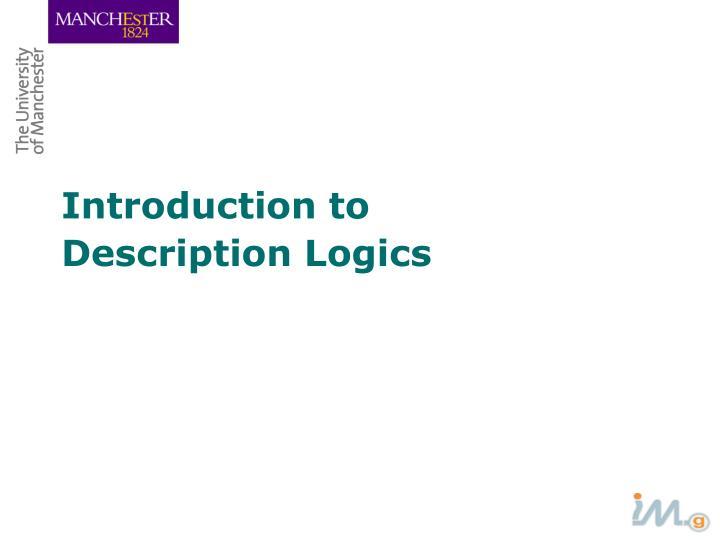 Introduction to description logics