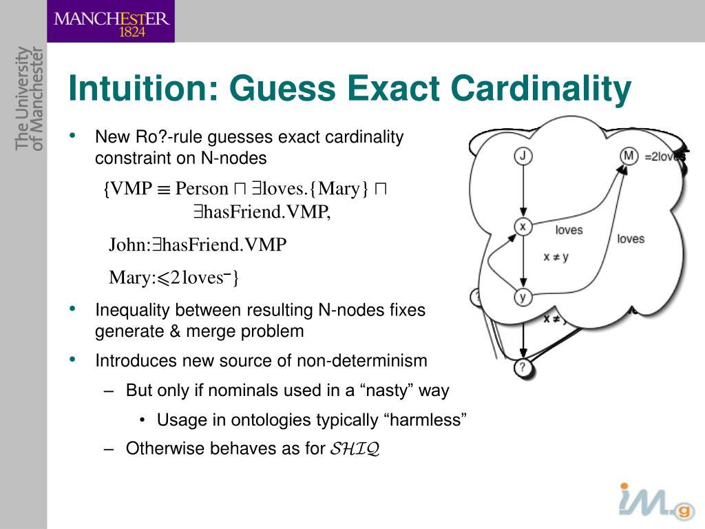 Intuition: Guess Exact Cardinality
