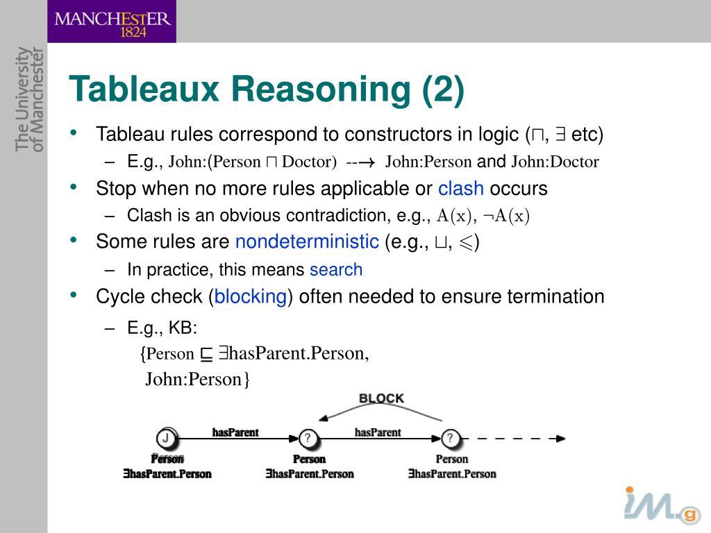 Tableaux Reasoning (2)