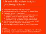 a behaviorally realistic analysis psychological issues