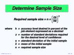 determine sample size23
