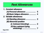 rest allowances14