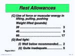 rest allowances15