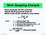 work sampling example