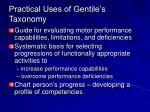 practical uses of gentile s taxonomy