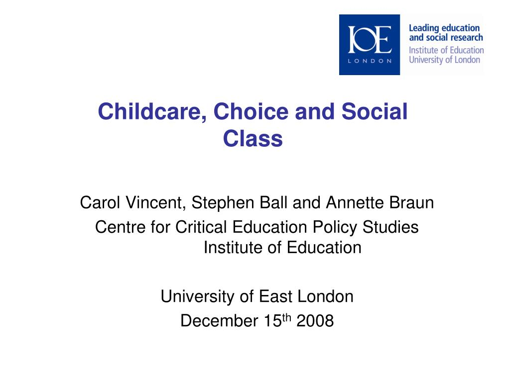 childcare choice and social class