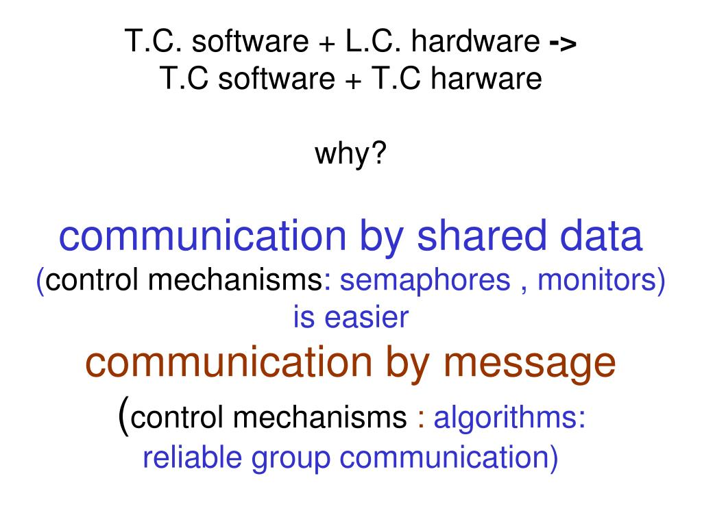 T.C. software + L.C. hardware