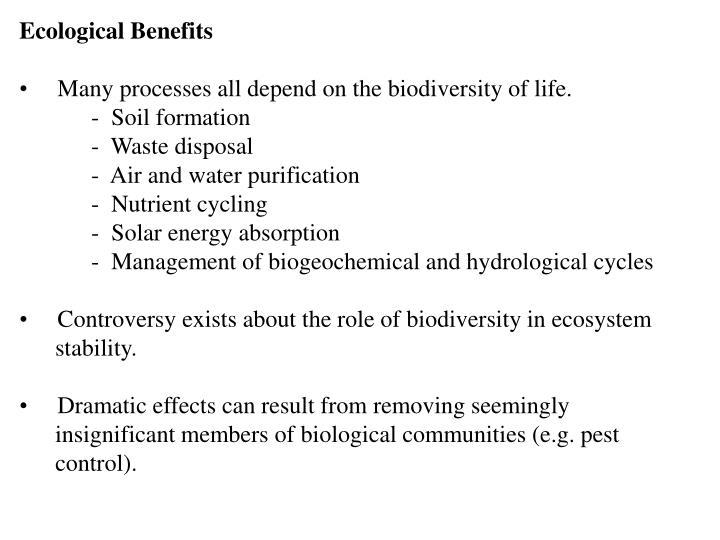 Ecological Benefits