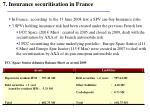 7 insurance securitisation in france