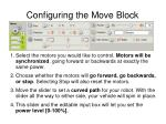 configuring the move block