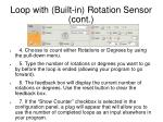 loop with built in rotation sensor cont