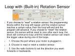 loop with built in rotation sensor