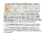 loop with sound sensor cont