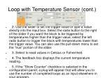 loop with temperature sensor cont