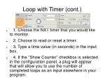 loop with timer cont