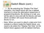 switch block cont27