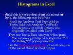 histograms in excel