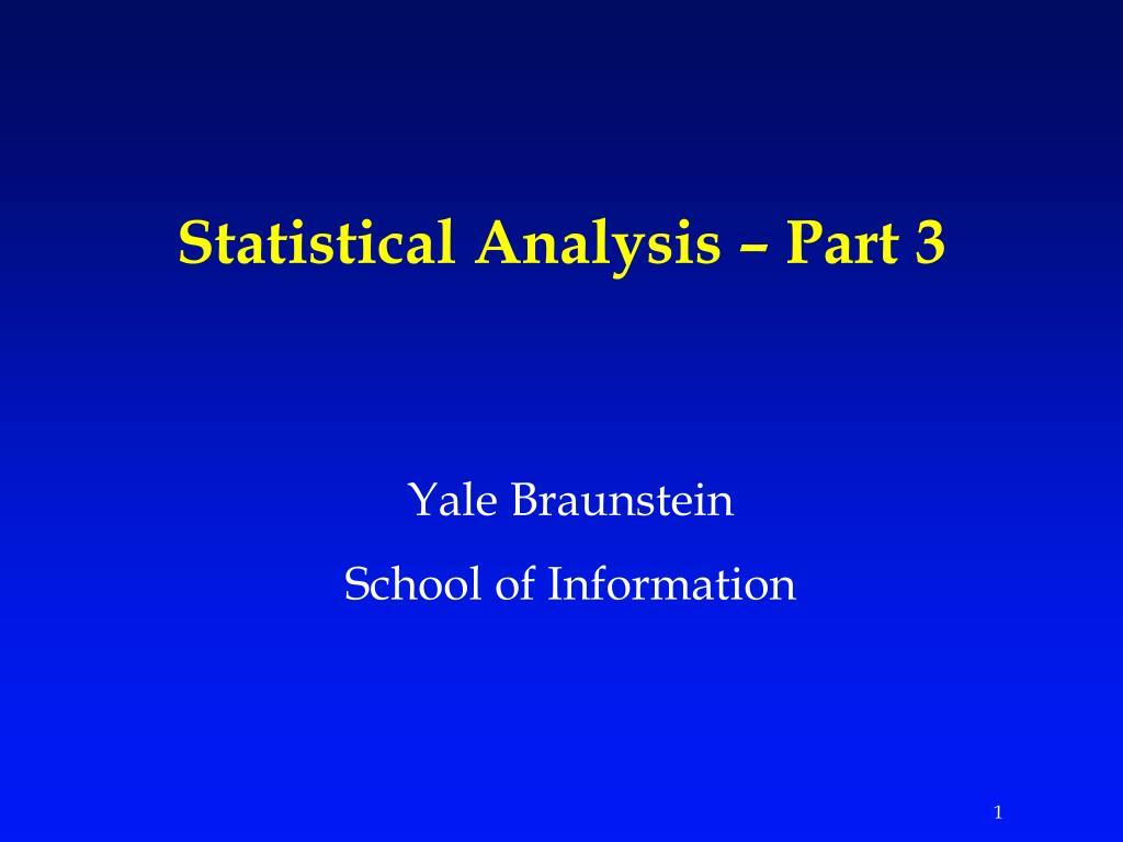 statistical analysis part 3