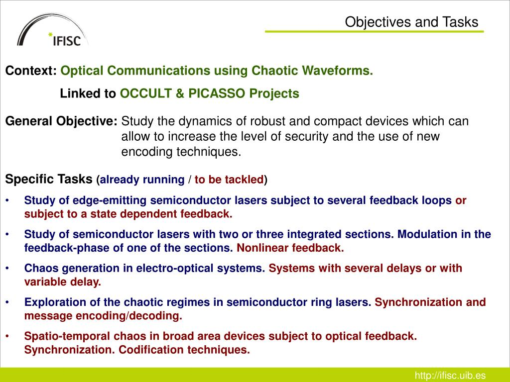 Objectives and Tasks