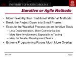 iterative or agile methods