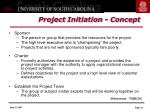 project initiation concept