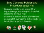 extra curricular policies and procedures page 49