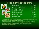 food services program
