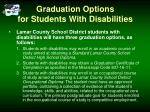 graduation options for students with disabilities
