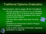 traditional diploma graduation