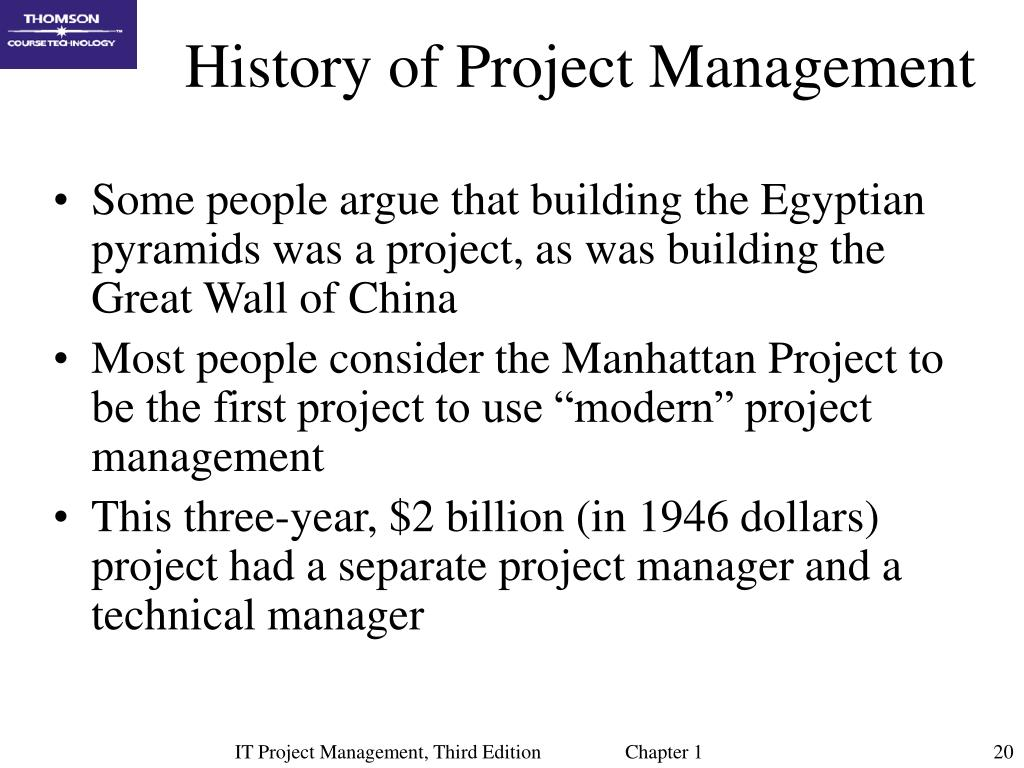 History of Project Management