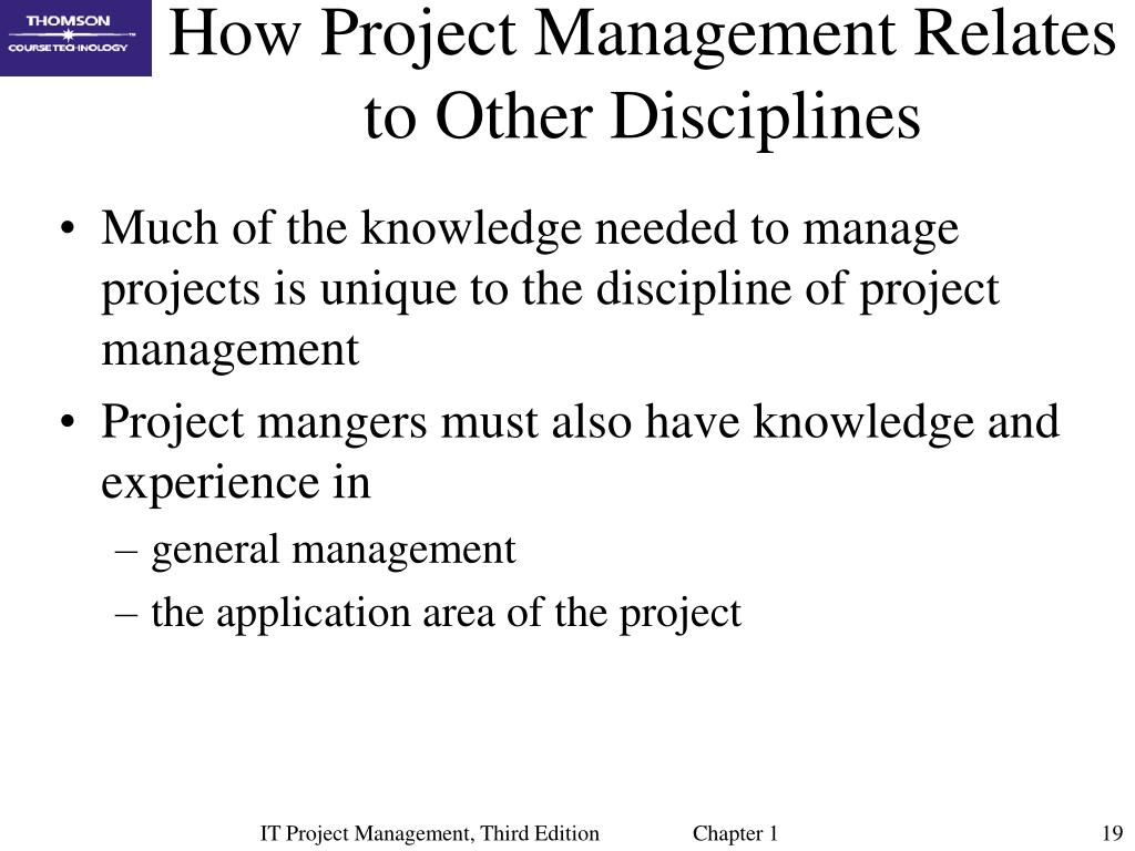 How Project Management Relates to Other Disciplines