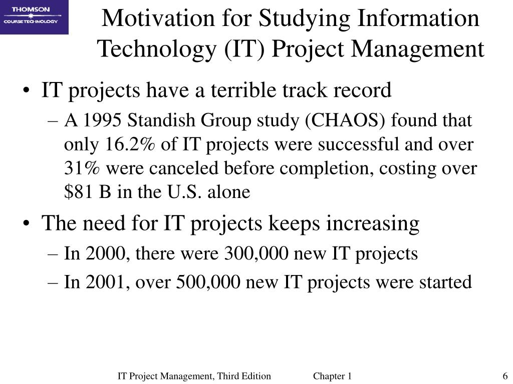 Motivation for Studying Information Technology (IT) Project Management