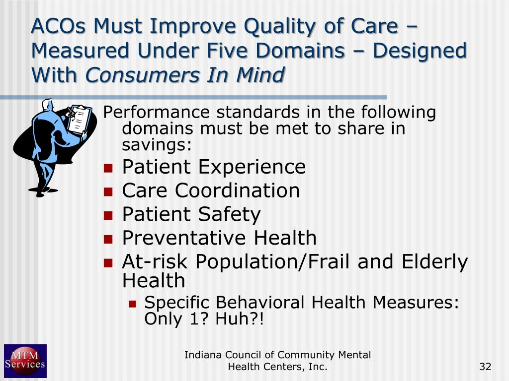 ACOs Must Improve Quality of Care – Measured Under Five Domains – Designed With