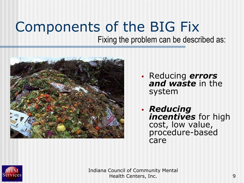Components of the BIG Fix
