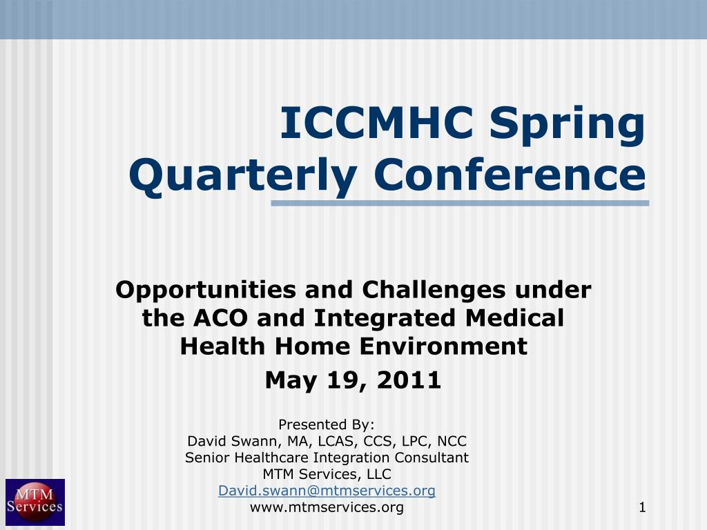ICCMHC Spring Quarterly Conference