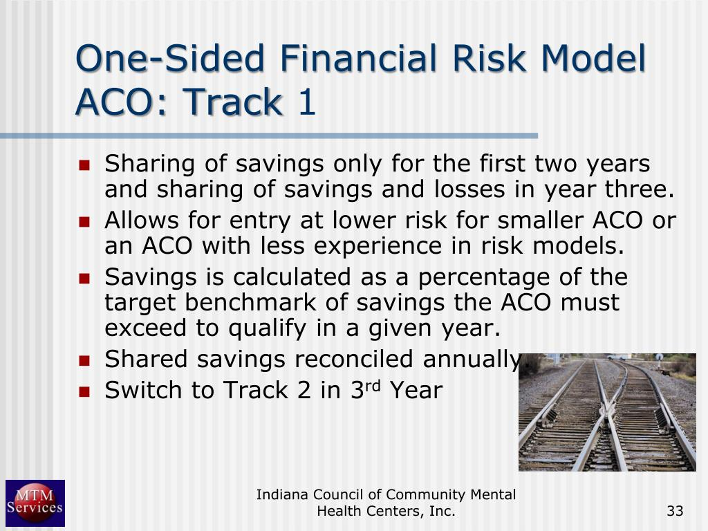 One-Sided Financial Risk Model ACO: Track