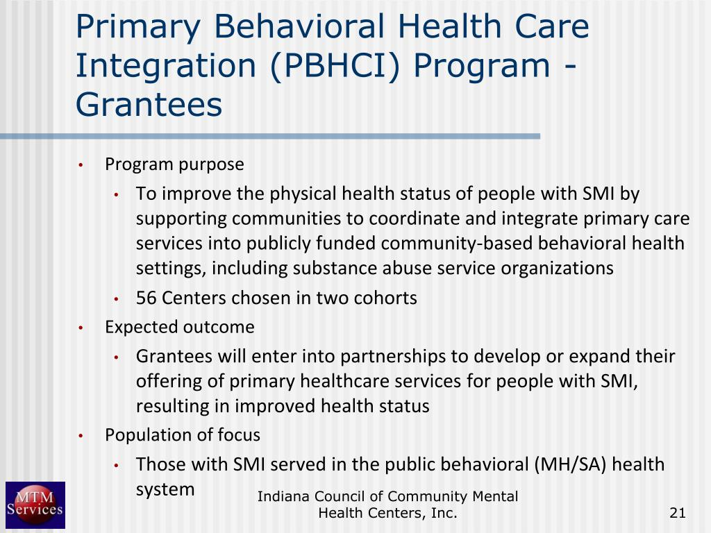 Primary Behavioral Health Care Integration (PBHCI) Program - Grantees
