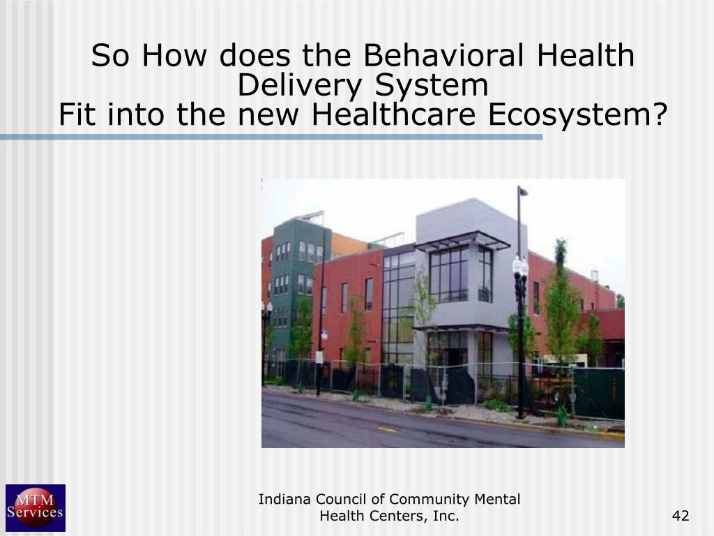 So How does the Behavioral Health Delivery System