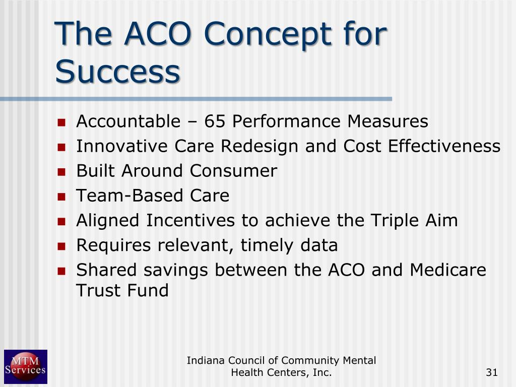 The ACO Concept for Success