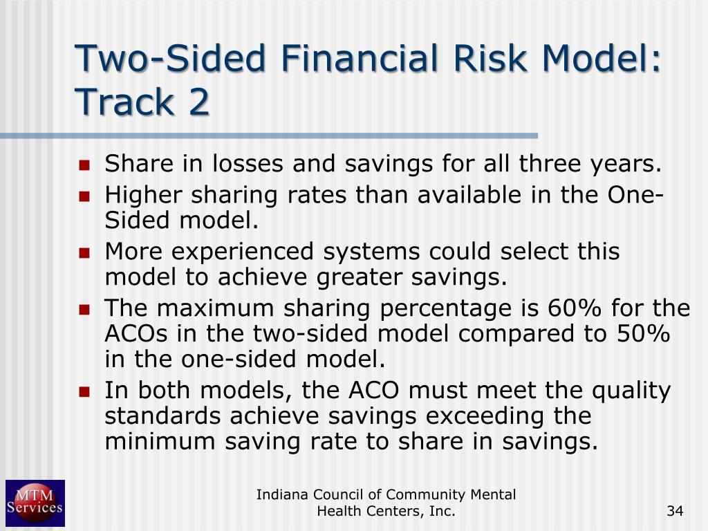 Two-Sided Financial Risk Model: