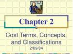 cost terms concepts and classifications 2 09 04