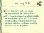 teaching note