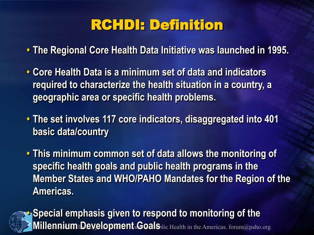 RCHDI: Definition