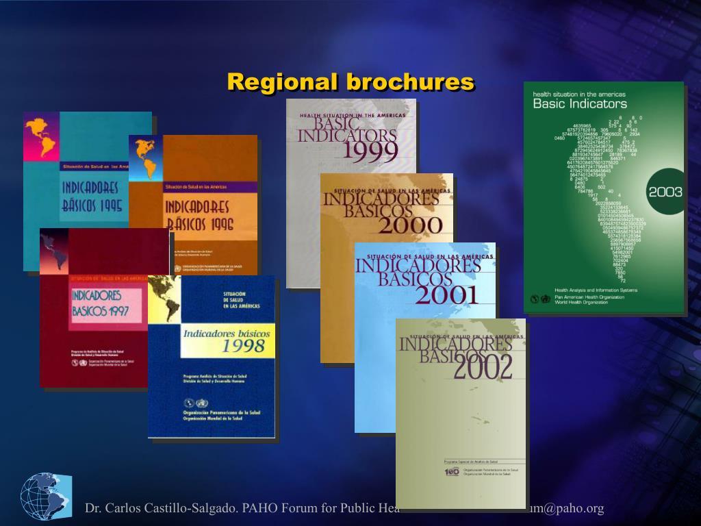Regional brochures